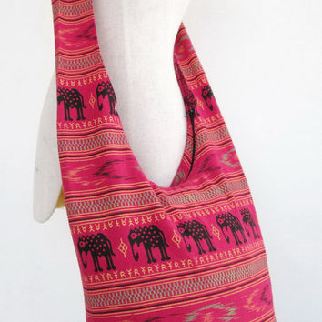 Hill Tribe Shoulder Bag Boho Hippie CrossBody Messenger Elephant Travel Bag # 02