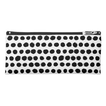 Black & white Polka Dot Pencil Case