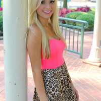 Hot Pink Leopard Dress