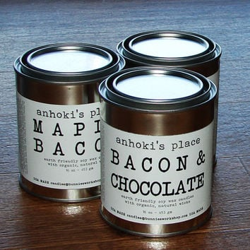 Bacon & Chocolate Scented Soy Wax Container Candle 16 oz