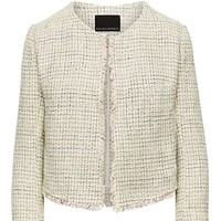 Tweed Jacket with Frayed Edges|banana-republic