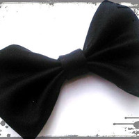 Small Hair Bow- Classic Black