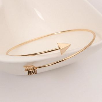 DARTS AWAY™ - Women's Metal Arrow Cuff Bangle Bracelet