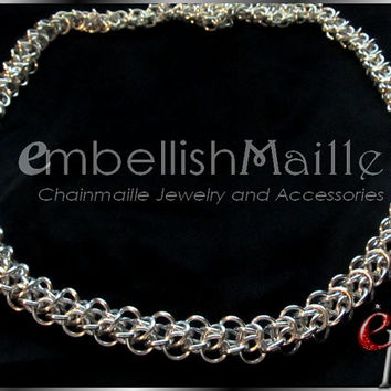 "Elfweave Chainmaille Necklace / Choker. 23"" - 32"" Lead/Nickel Free. Perfect for Renaissance Medieval Costumes or everyday wear!  Great Gift"