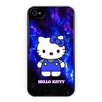 Hello Kitty Blue Galaxy Nebula iPhone 4/4S Case