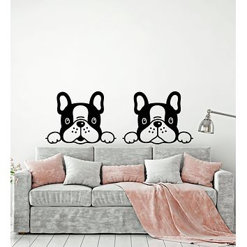 Vinyl Wall Decal Puppy Dog Home Pets Animal Nursery Stickers Mural (g626)