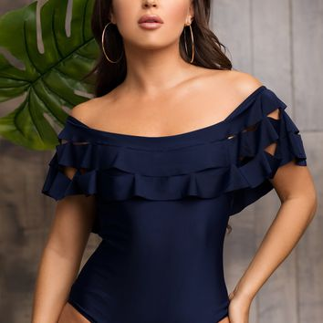 Pelican Point One Piece Swimsuit - Navy