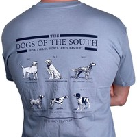 Dogs of the South in Grey-Blue by Southern Proper - FINAL SALE
