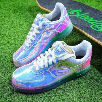 CREYNW6 Nike Air Force 1 Low New York City NYC Ice Blue Sliver Iridescent Sport Shoes 779456-991 Sneaker-1