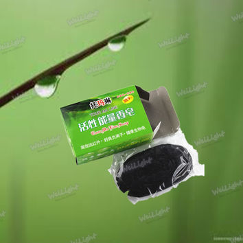 100% Bamboo charcoal Soap for deep cleaning skin and Firming skin, Black soaps Shrink pores