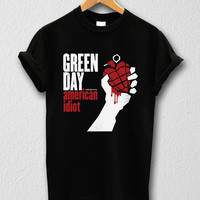 Green day shirt US Punk Rock T-shirt Unisex Men Women Tshirts Size S/M/L/XL/2XL