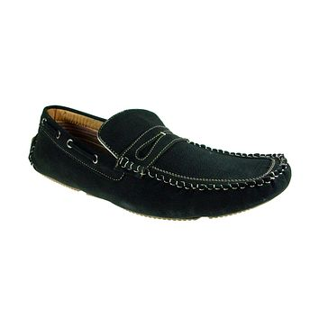 Mens Polar Fox Driver Moccasin Casual Loafers Shoes 13005 Black-523