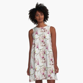 """Magnolia"" A-Line Dress by DesignCats 
