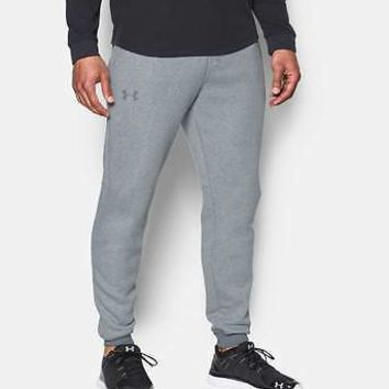 Under Armour Men's UA Rival Fleece Patterned Jogger Tapered Leg Pants Sweatpants