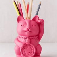 Lucky Cat Pencil Cup | Urban Outfitters Canada