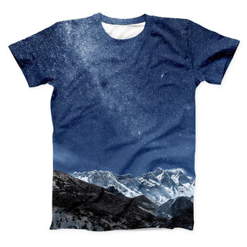 The Starry Mountaintop ink-Fuzed Unisex All Over Full-Printed Fitted Tee Shirt