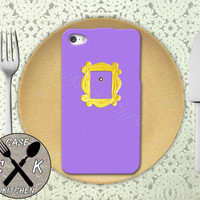 Friends Inspired Purple Lavender Door Gold Frame Cute Show Custom Rubber Tough Phone Case For The iPhone 4 and 4s and iPhone 5 and 5s and 5c