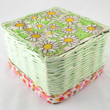 Paper woven basket Handmade Eco friendly Home decoration designed Gift ideas