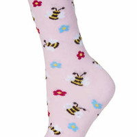 Bumble Bee Ankle Socks - Pink