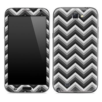 Black and Gray Chevron Pattern Skin for the Samsung Galaxy Note 1 or 2