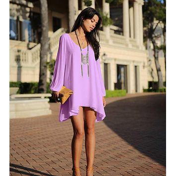 Women dress 2017 hot casual dress chiffon summer beach dress style plus size women clothing