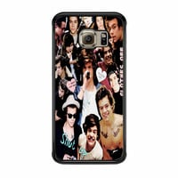 Harry Styles One Direction Collage Clothes Off Samsung Galaxy S6 Edge Case