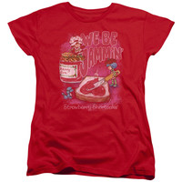 Strawberry Shortcake Jammin Red Womens T-Shirt