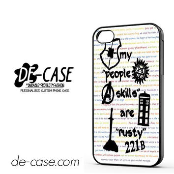 Herlock Supernatural And Dean And Cas DEAL-5261 Apple Phonecase Cover For Iphone 4 / Iphone 4S