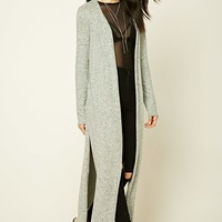 Brushed Knit Maxi Cardigan