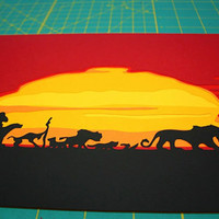 Lion King Layered Paper Cutting