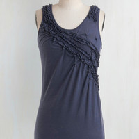 Mid-length Tank top (2 thick straps) Wild Blueberries Top