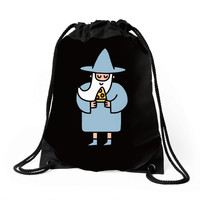 wizard pizza Drawstring Bags