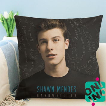 Shawn Mendes Handwritten Zippered Pillow Case, Cushion Case, Pillow case