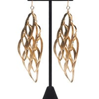 Diamond Dusted Cut Out Chandelier Earrings | Wet Seal