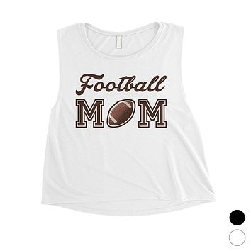 Football Mom Womens Crop Tank Top Funny Mother's Day Gift Ideas