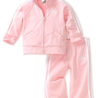 Adidas Baby-girls Infant Tricot Jacket Set, Light Pink, 3 Months
