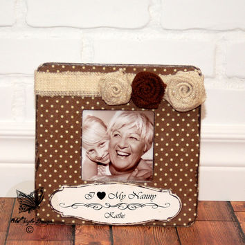 Grandma Gift Picture Frame Personalized Frame Grandparents Gift Personalized Frame Burlap Gift Grandparents Grandchildren Nana Grandpa Gift