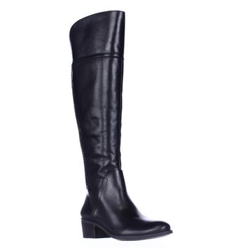 Vince Camuto Bendra Over-the-Knee Woven Boots, Black, 5.5 US / 35.5 EU