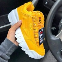 FILA Popular Women Casual Running Sport Shoes Sneakers Yellow