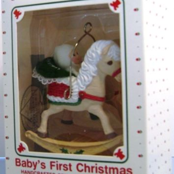 1988 Baby's First Christmas Hallmark Retired Ornament