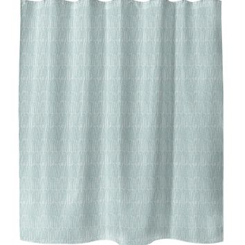 CLUSTER GREEN Shower Curtain By Tiffany Wong