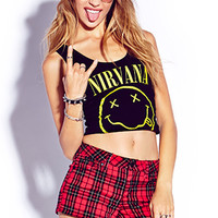 Throwback Nirvana Crop Top
