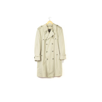 Christian Dior trench coat / vintage / beige tan brown / rain coat / mens size 44 s large - extra large