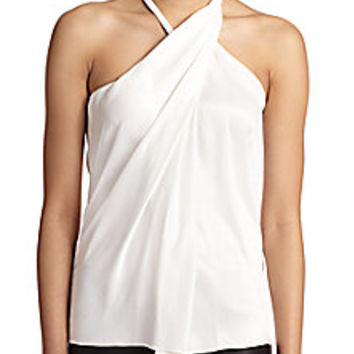 Helmut Lang - Asymmetrical Satin Top - Saks Fifth Avenue Mobile