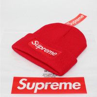 Supreme Woman Fashion Beanies Winter Embroidery Hat Cap