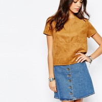 New Look | New Look Suede Top at ASOS