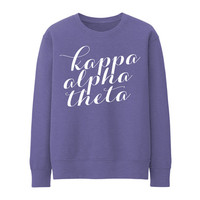 KAO // Kappa Alpha Theta // Script // Choose Your Colors // Sorority Sweatshirt