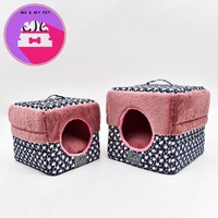 New Fashion Warm Pet Bed Small Dog Cat House For Small Dogs Pet Products House Pet Beds for Cat Round Hole Square Pet Room