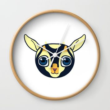 Baby Goat Wall Clock by Ercan Sert