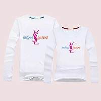YSL Women Men Lover  Casual Long Sleeve Top Sweater Pullover